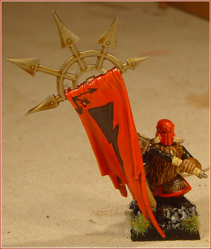 Chaos Dwarf Battle Standard Bearer