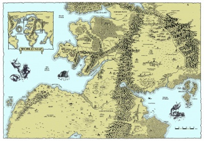 Map of the regions surrounding the Dark Lands